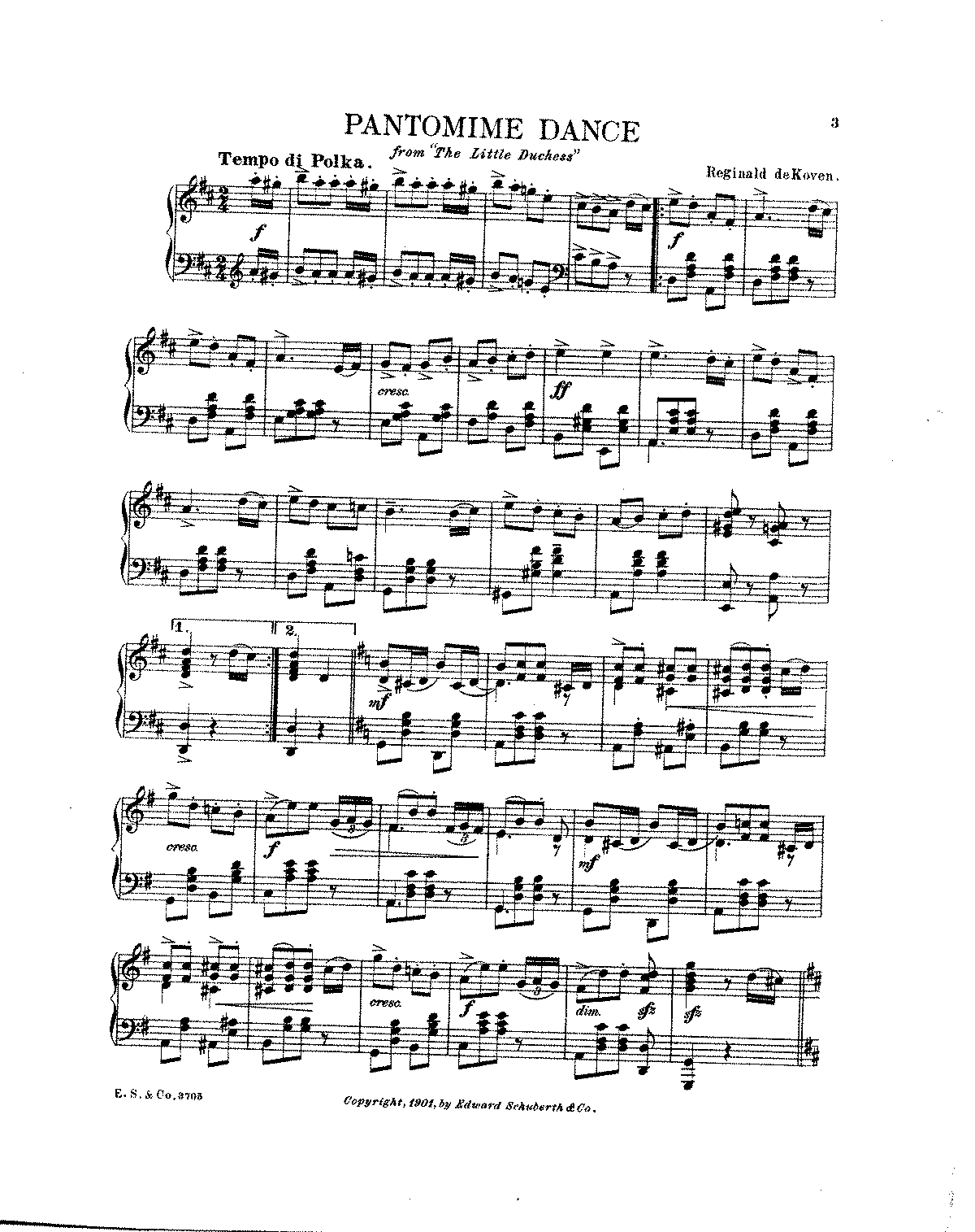 The Little Duchess (De Koven, Reginald) - IMSLP/Petrucci Music