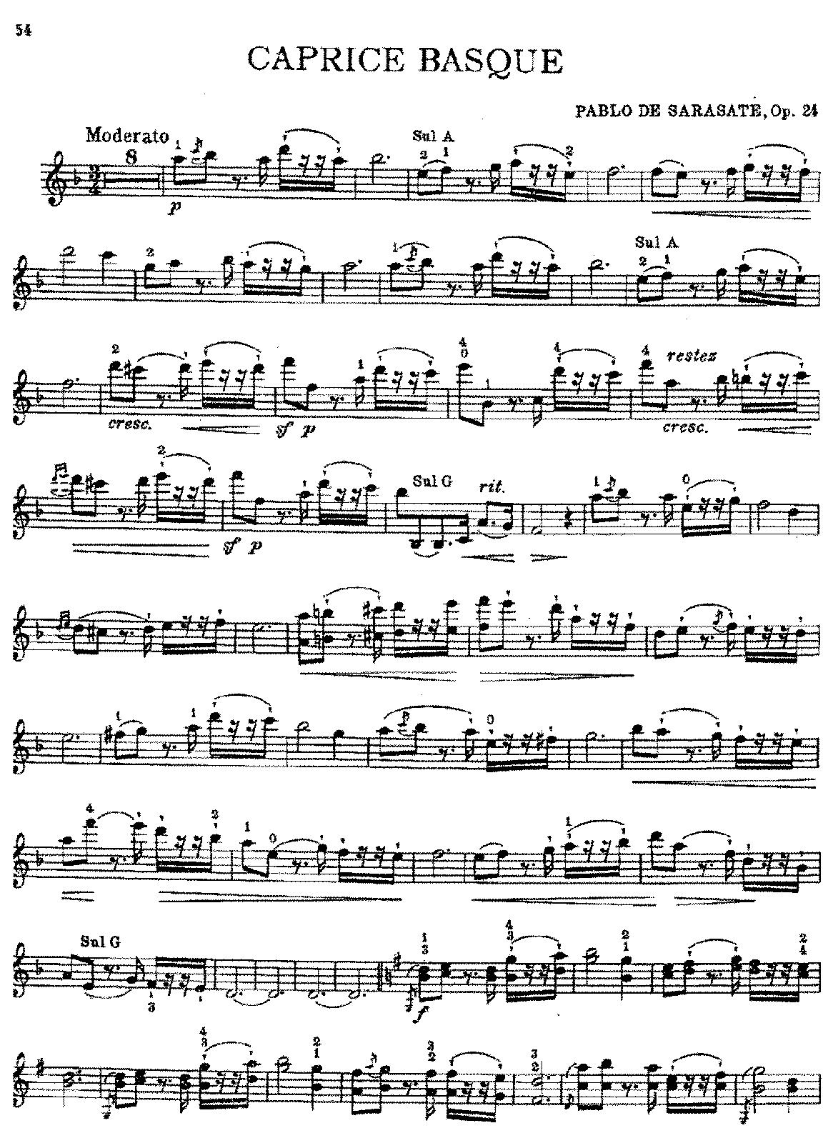 Sarasate, op. 24