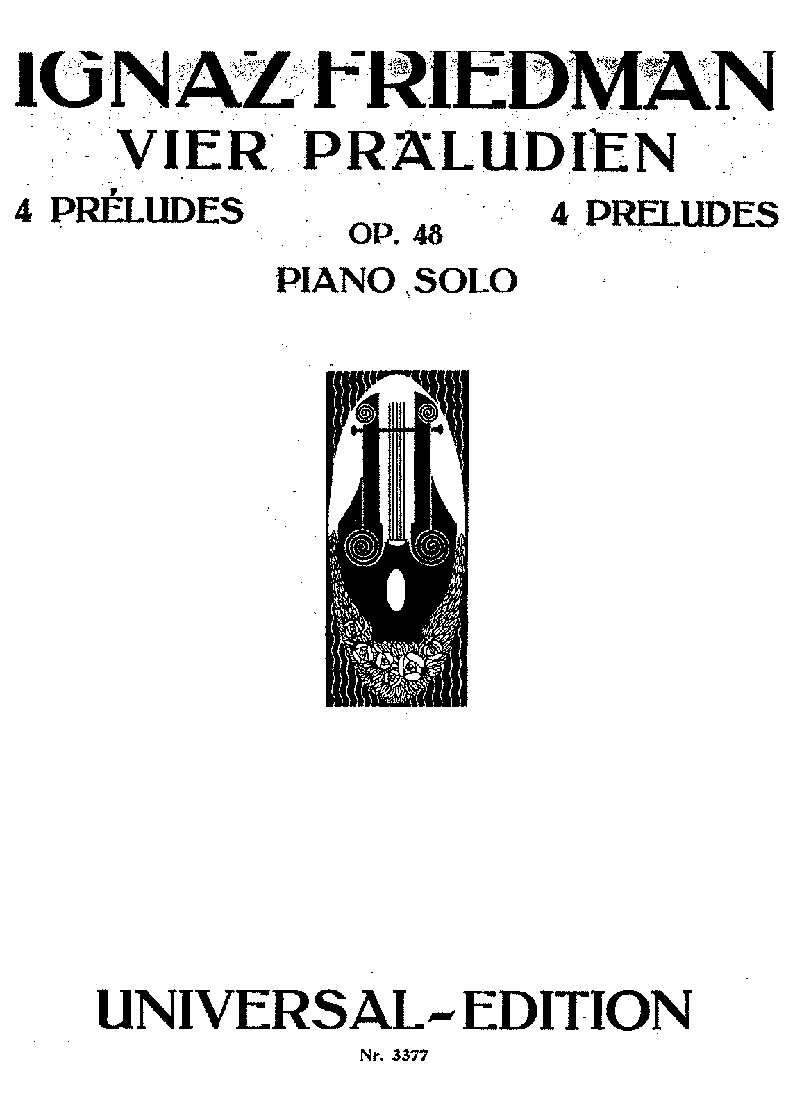 4 Preludes, Op 48 (Friedman, Ignaz) - IMSLP/Petrucci Music Library