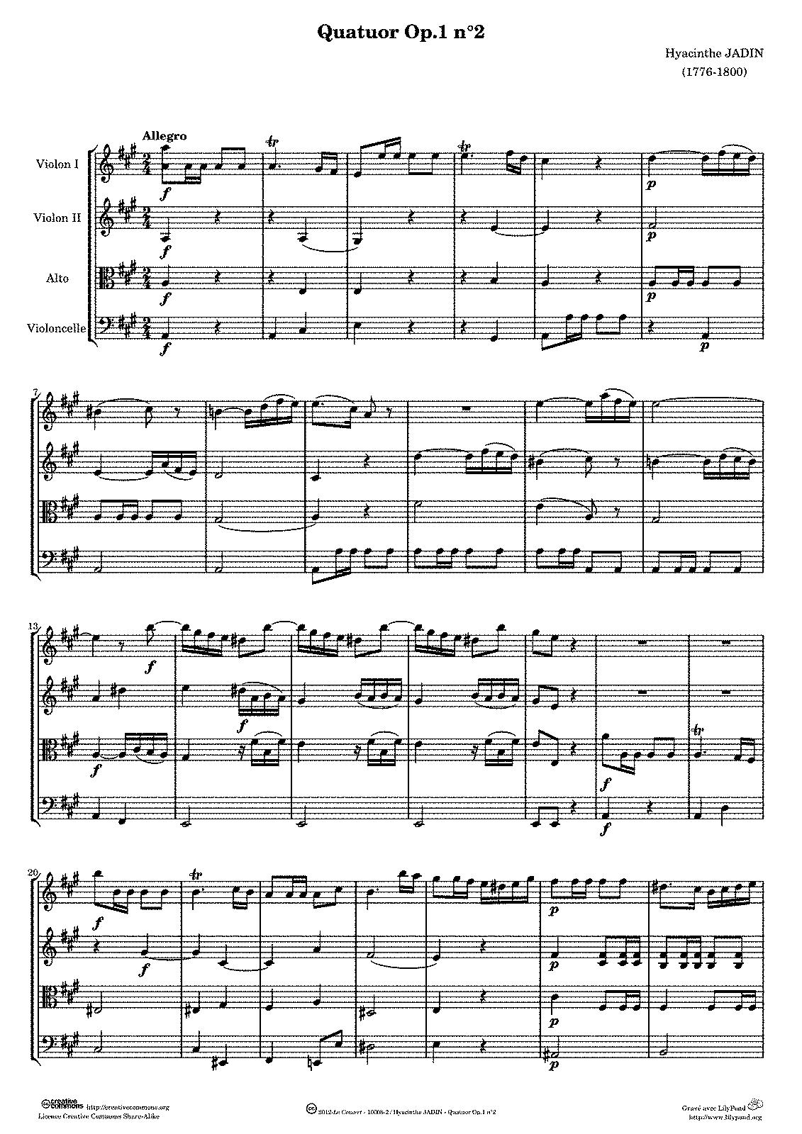 Jadin, op. 1 n. 2