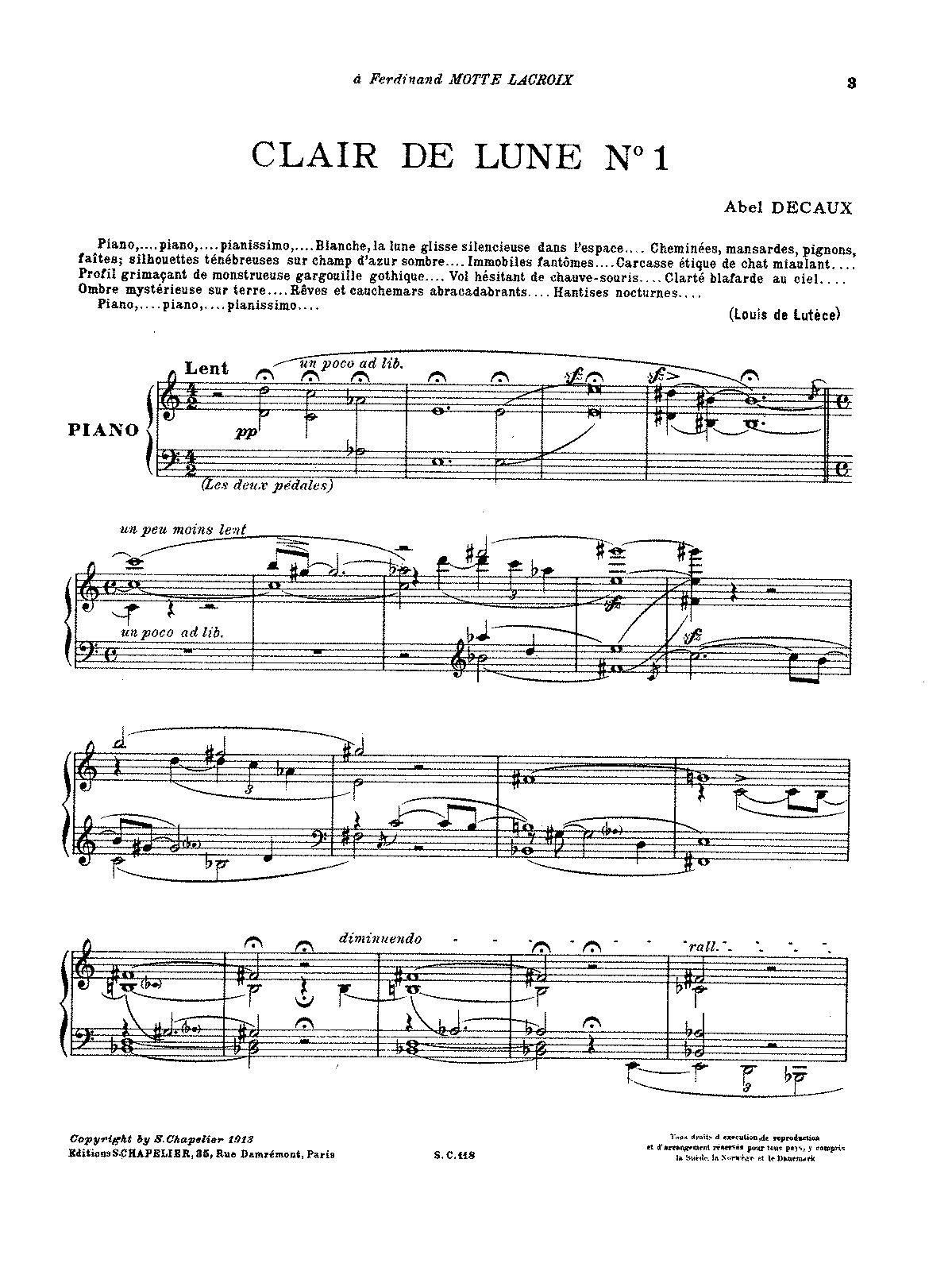 claire de lune noten pdf