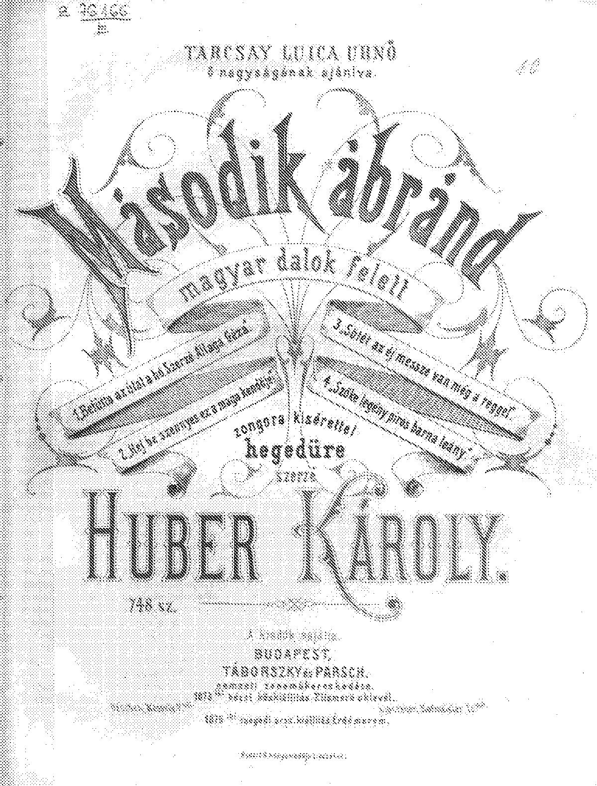 Második ábránd (Huber, Károly) - IMSLP/Petrucci Music Library: Free