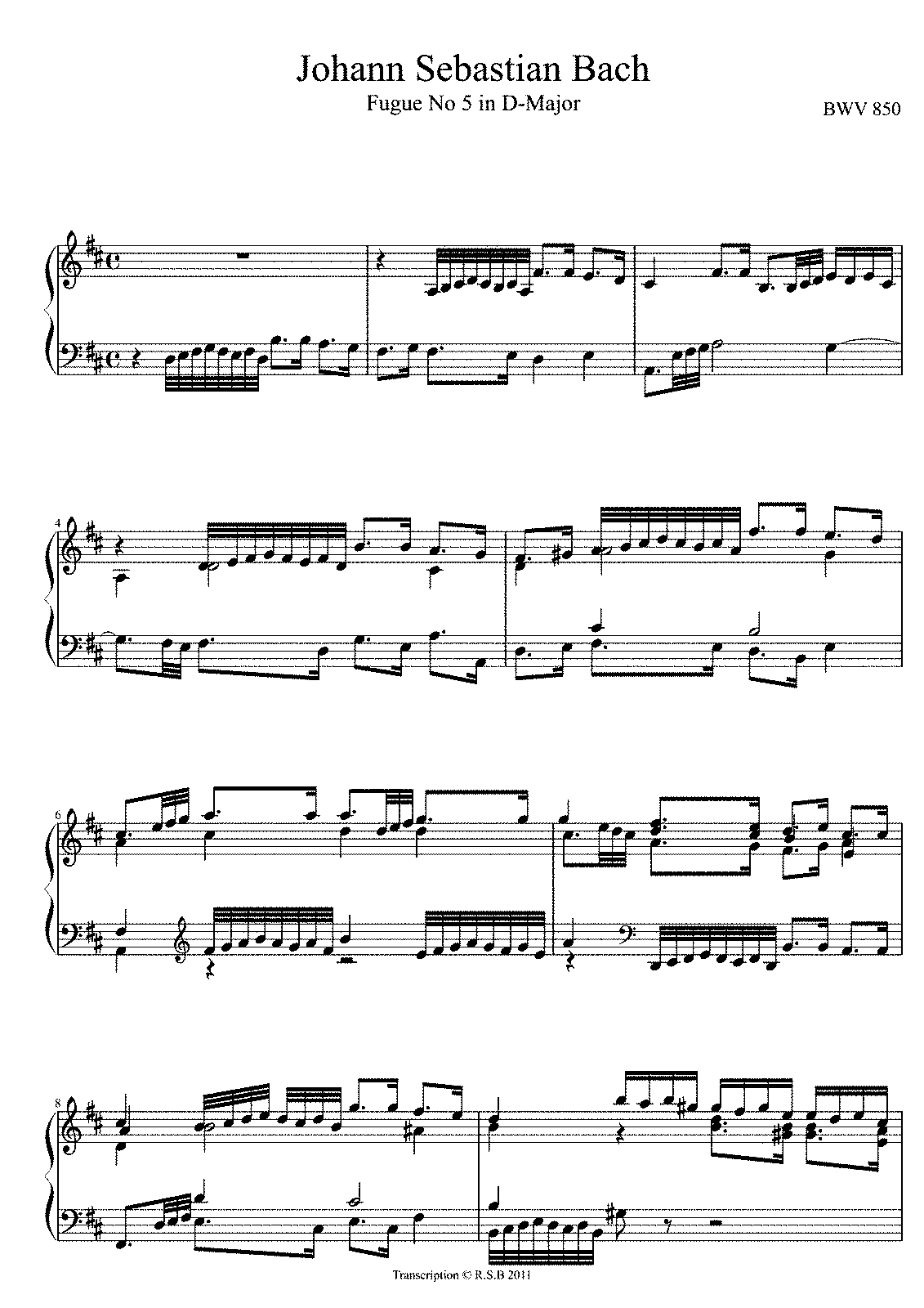 Bach prelude in d major pdf viewer