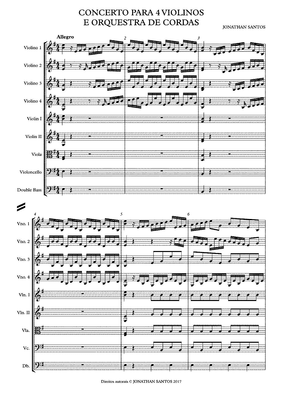 Concerto for 4 Violins, CJS 1 (Santos, Jonathan) - IMSLP/Petrucci