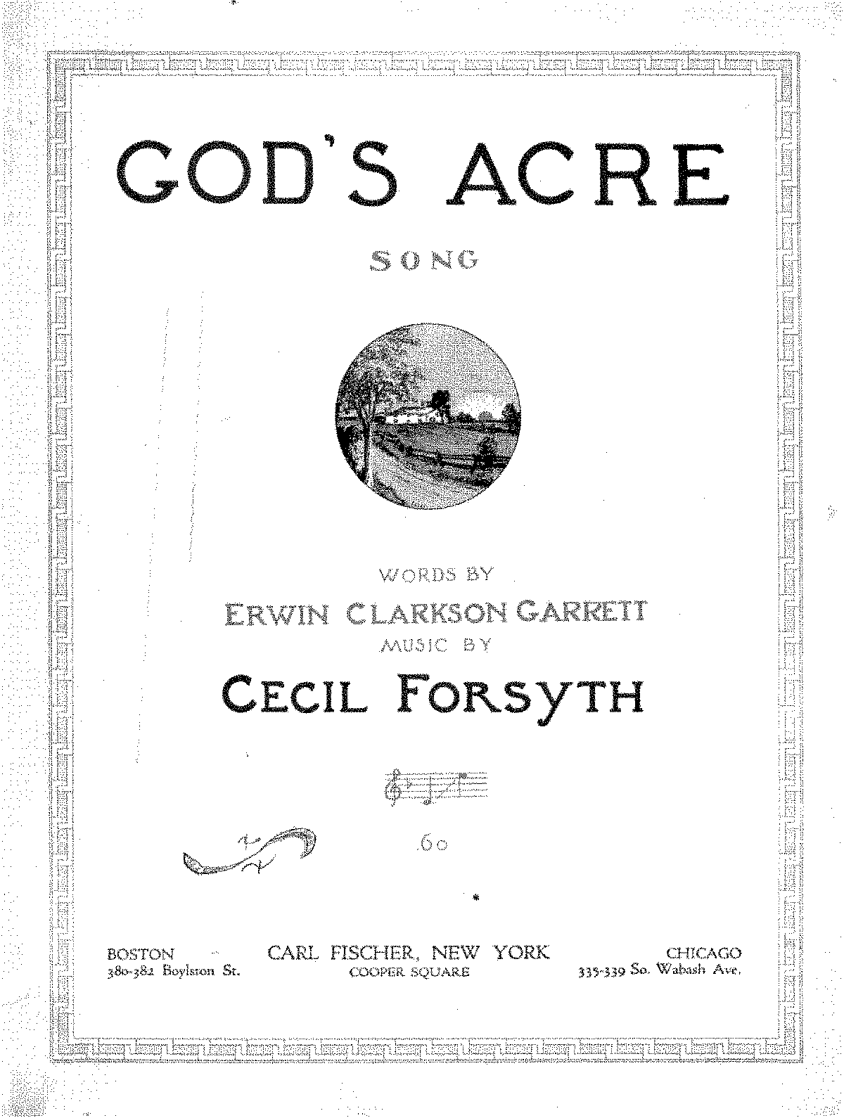 God's Acre (Forsyth, Cecil) - IMSLP/Petrucci Music Library: Free