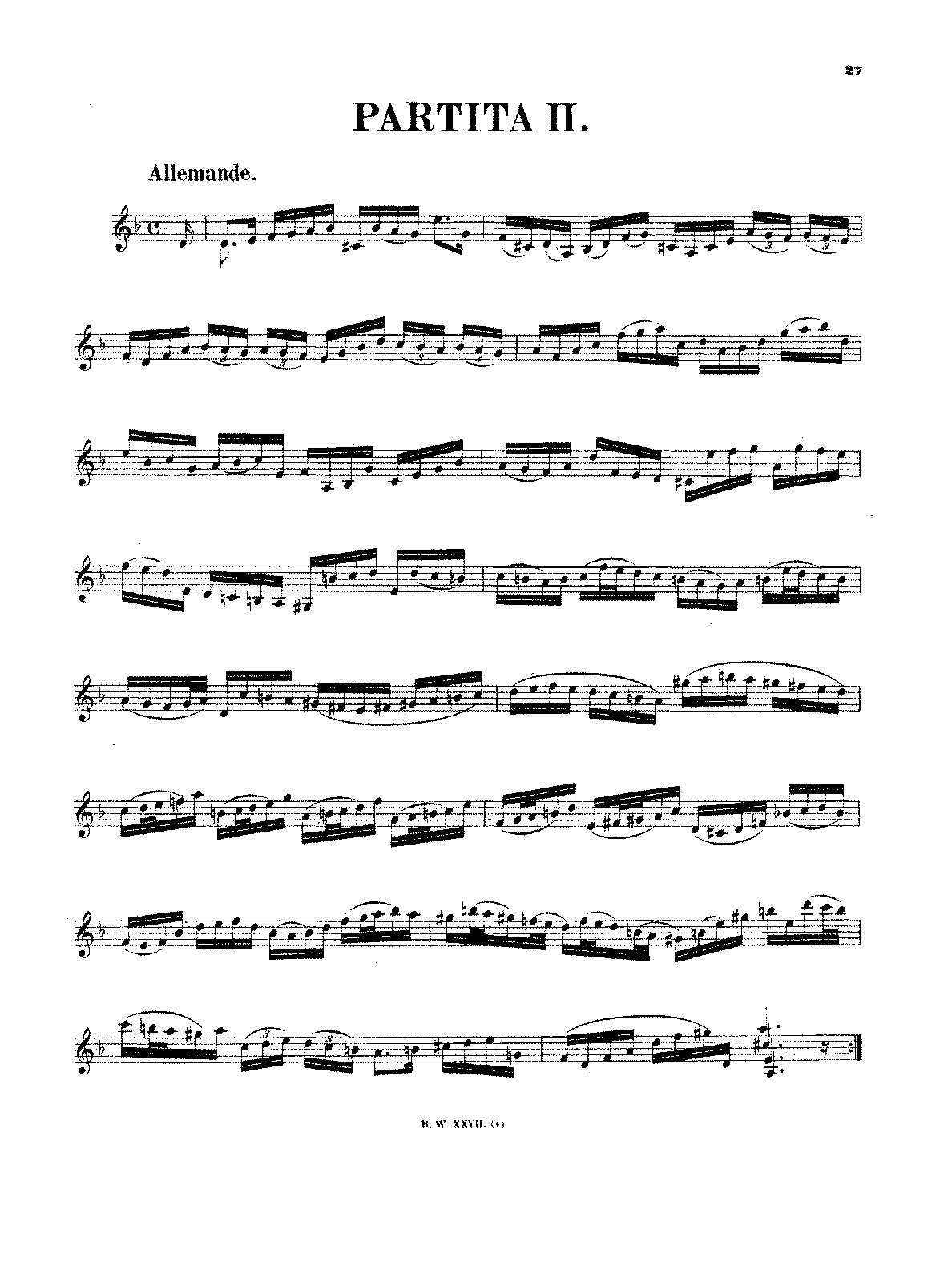 Violin Partita No 2 in D minor, BWV 1004 (Bach, Johann