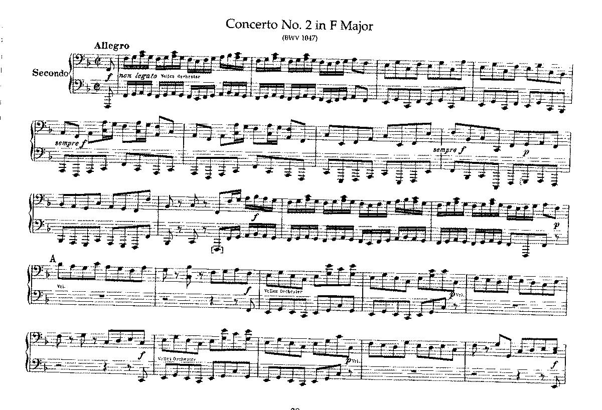 Brandenburg Concerto No 2 In F Major Bwv 1047 Bach