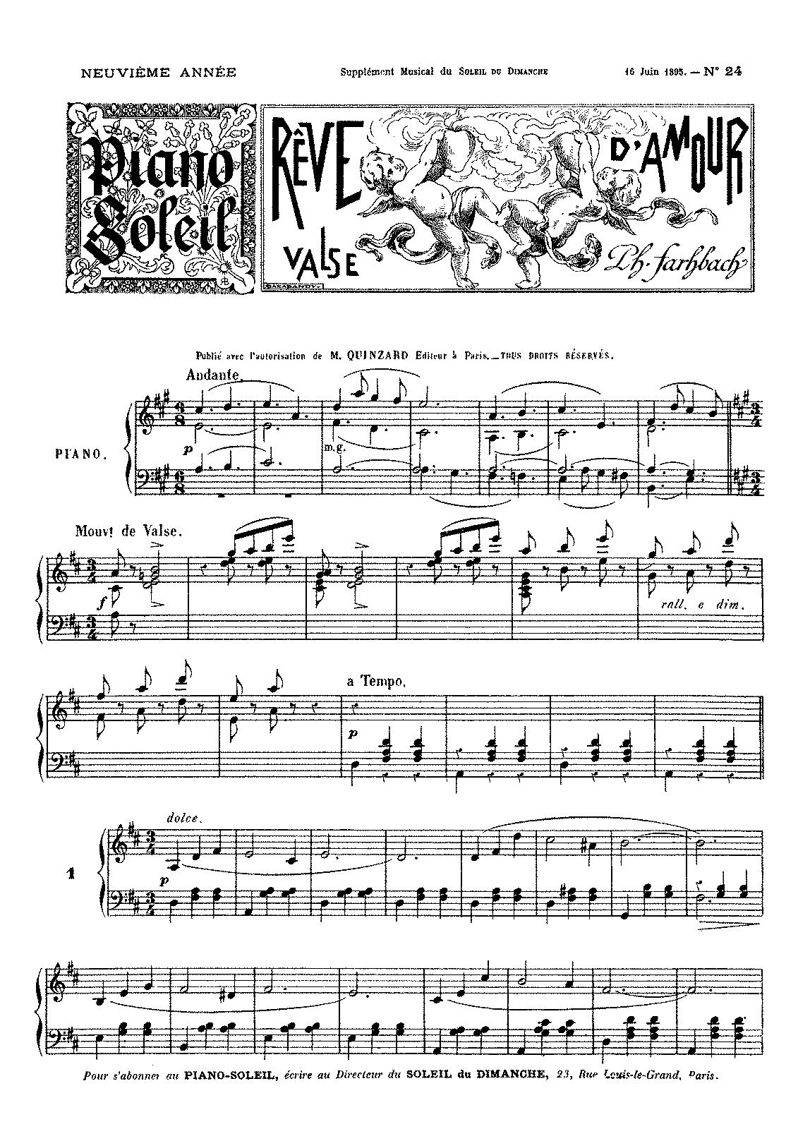 Rêve d'amour (Fahrbach Jr , Philipp) - IMSLP/Petrucci Music Library