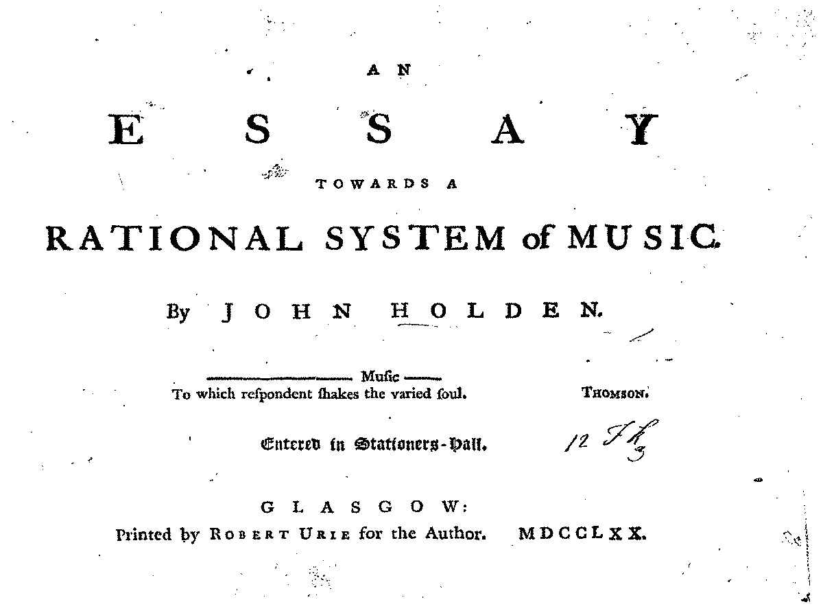 an essay towards a rational system of music holden john  javascript