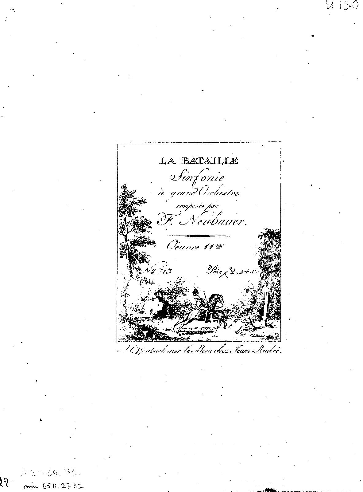 Symphony 'La Bataille', Op 11 (Neubauer, Franz Christoph