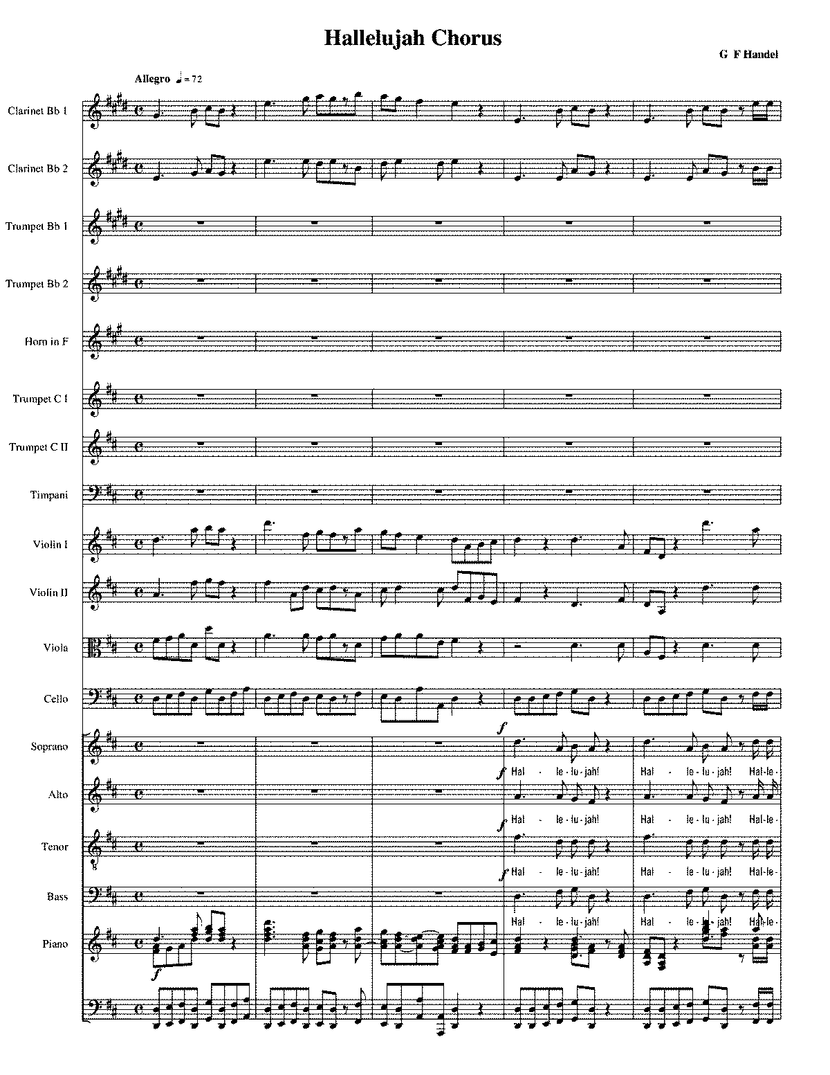photo regarding Hallelujah Piano Sheet Music Free Printable referred to as Document:PMLP90564-Hallelujah Refrain Conductors Rating.pdf