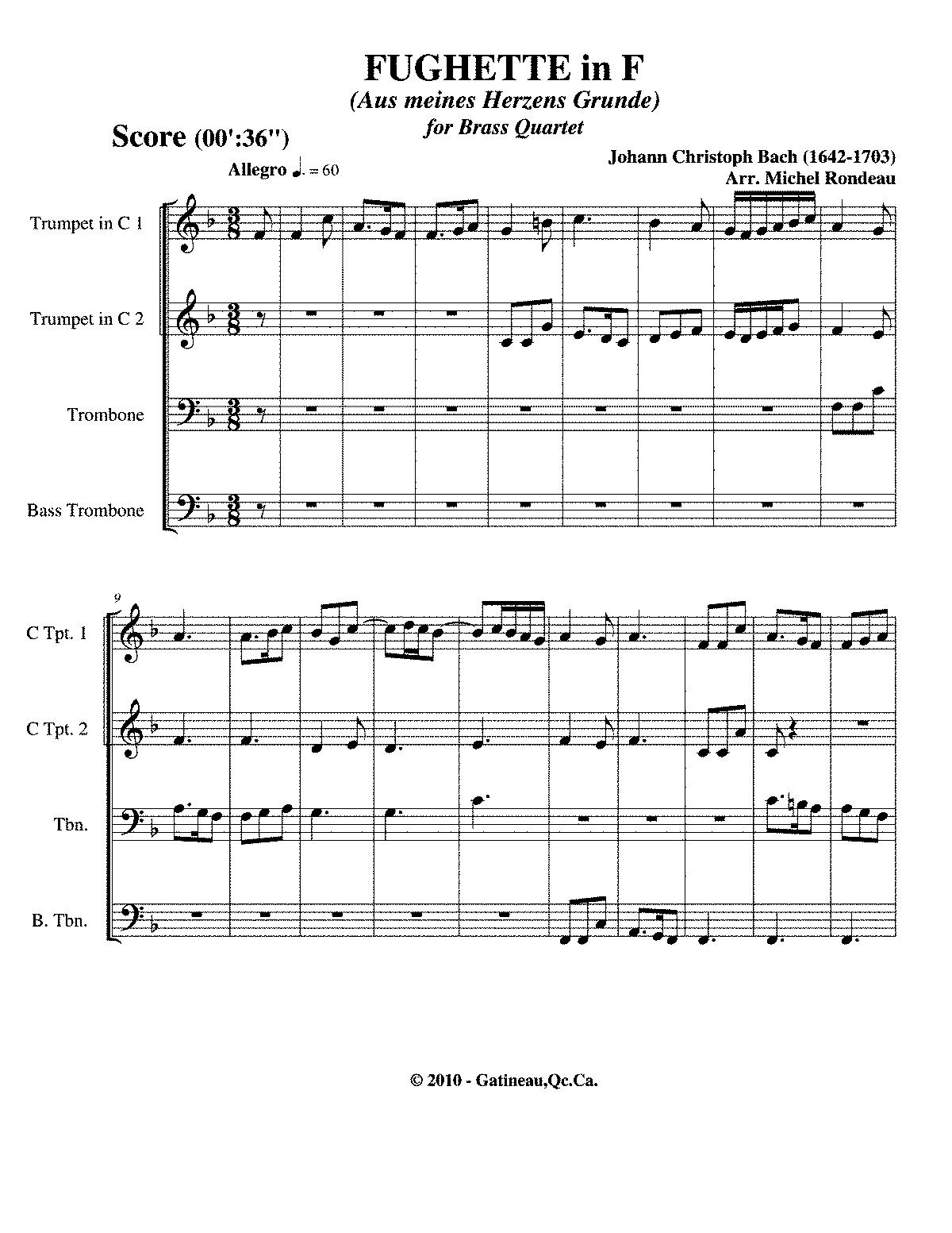 Aus meines Herzens Grunde (Bach, Johann Christoph) - IMSLP/Petrucci ...