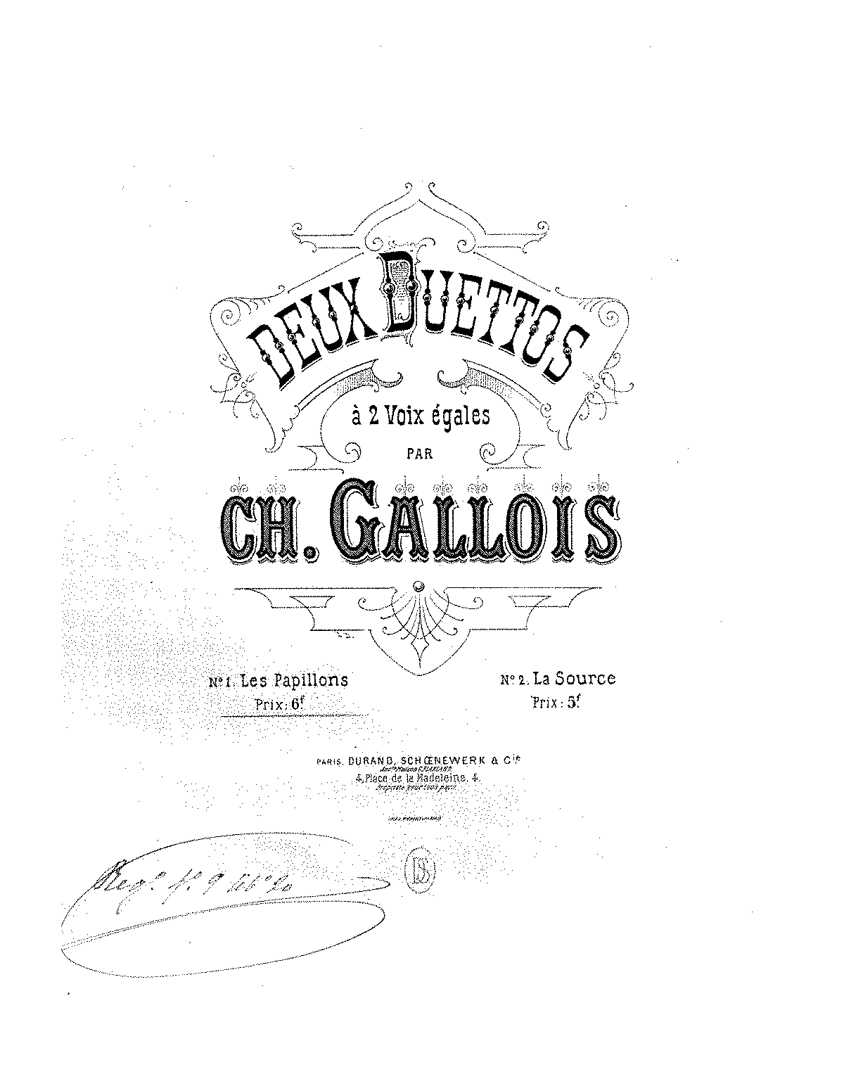 2 Duettos (Gallois, Charles) - IMSLP/Petrucci Music Library: Free