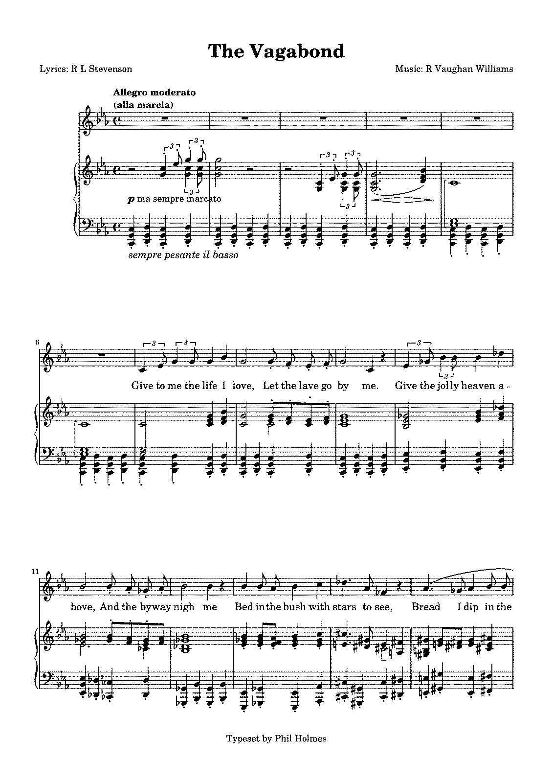 Songs of Travel (Vaughan Williams, Ralph) - IMSLP: Free