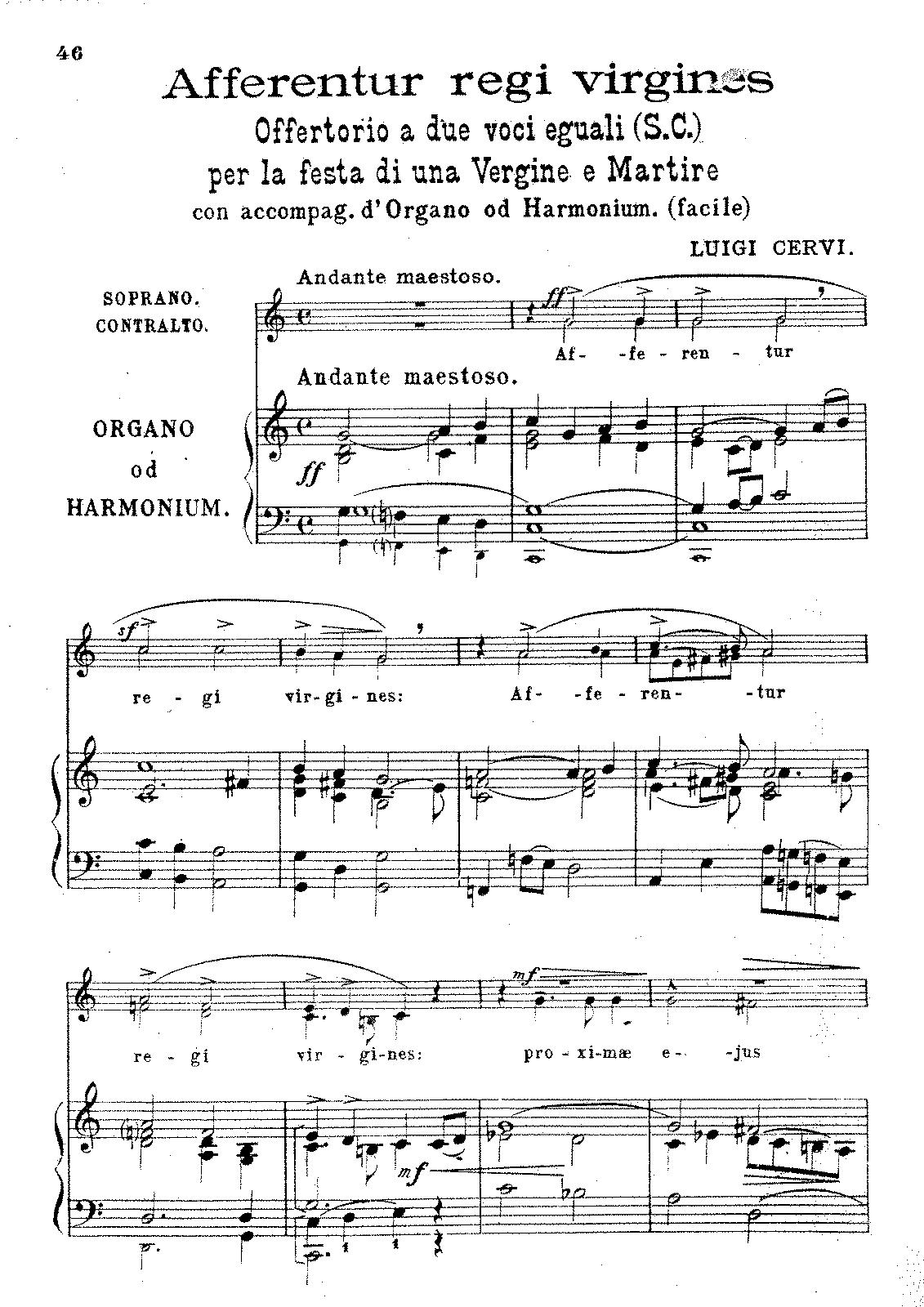 Afferentur regi virgines (Cervi, Luigi) - IMSLP/Petrucci