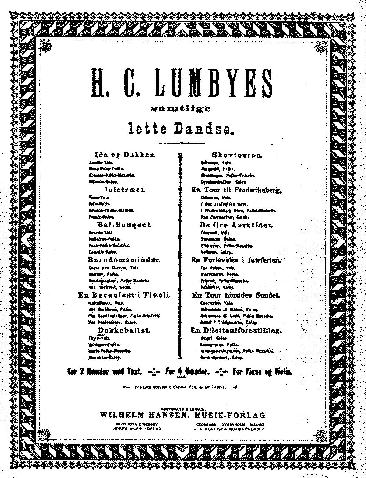 Lette Dandse, No 6 'Dukkeballet' (Lumbye, Hans Christian) - IMSLP
