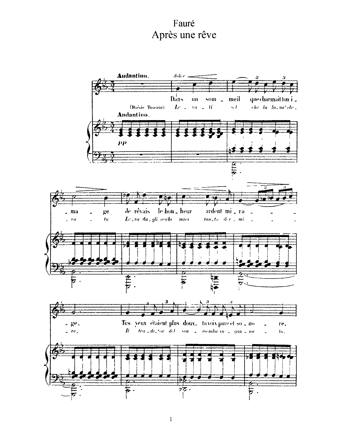 3 Songs Op7 Fauré Gabriel Imslp Free Sheet Music Pdf