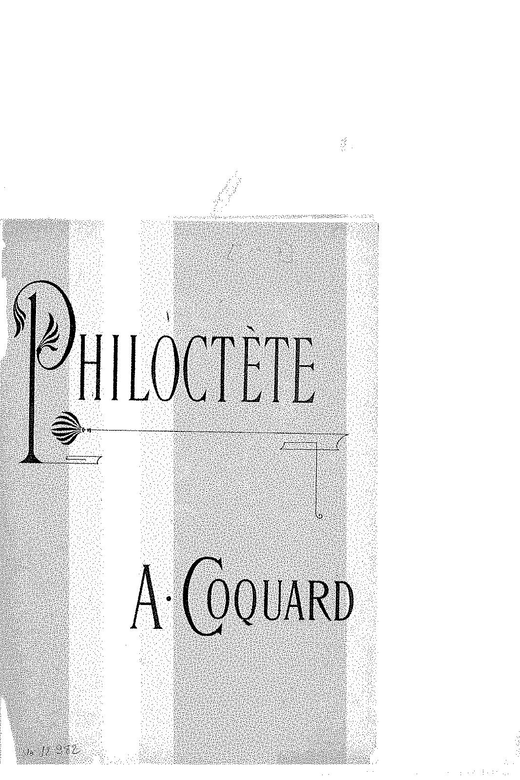 Philoctète (Coquard, Arthur) - IMSLP/Petrucci Music Library: Free