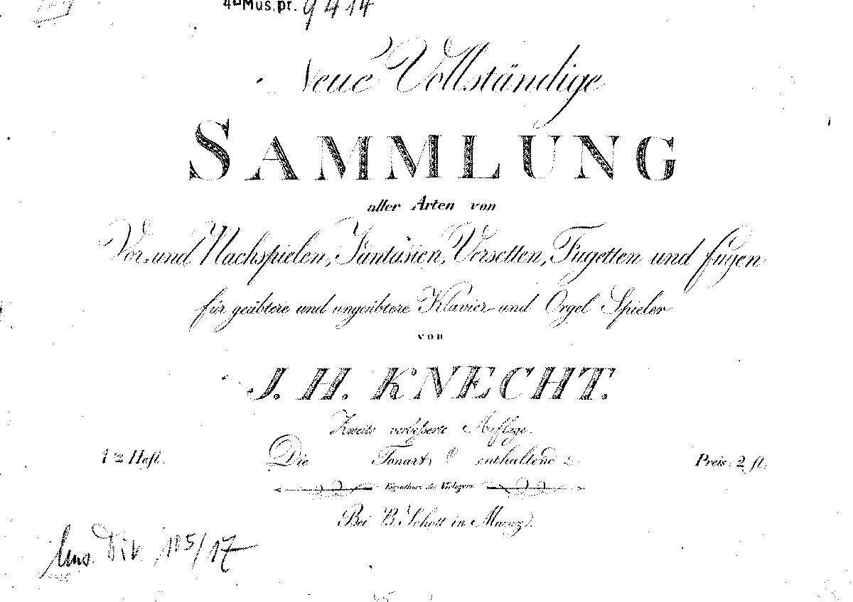 Neue Vollständige Sammlung (Knecht, Justin Heinrich) - IMSLP/Petrucci Music  Library: Free Public Domain Sheet Music