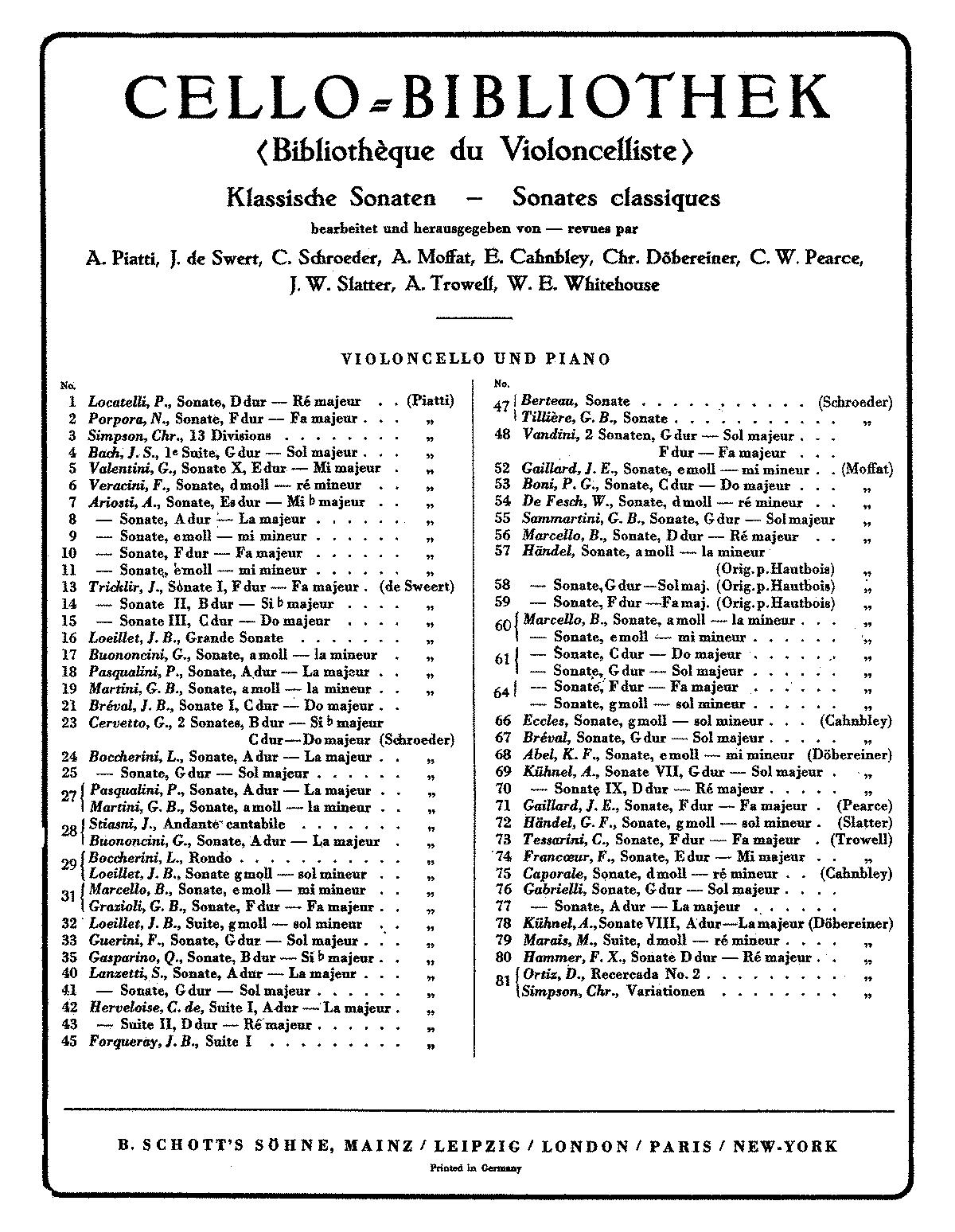 Marcello: Sonata in E minor Op. 2 no. 2 (Cello