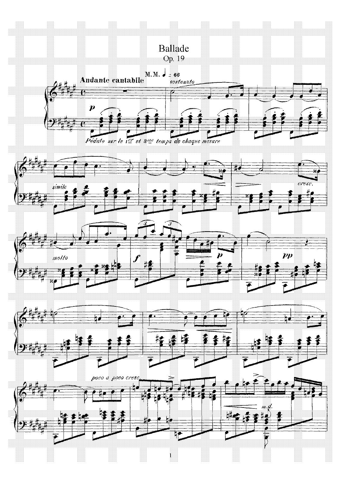 Fauré, op. 19