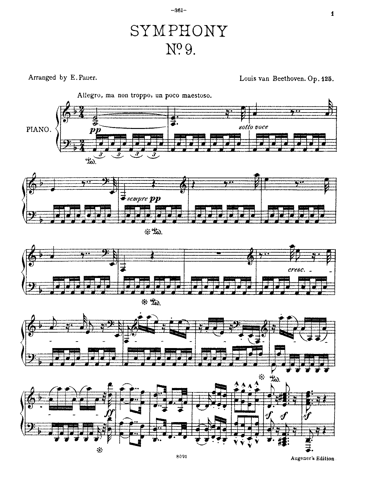 Amazon.com: beethoven 9 vocal score