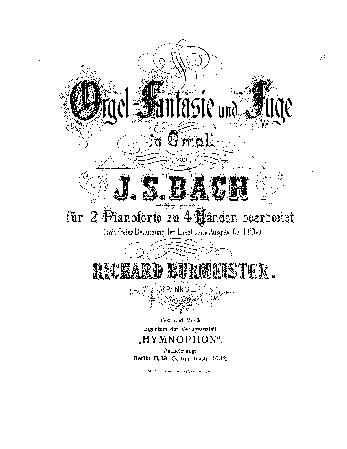 fantasia and fugue in g minor  bwv 542  bach  johann