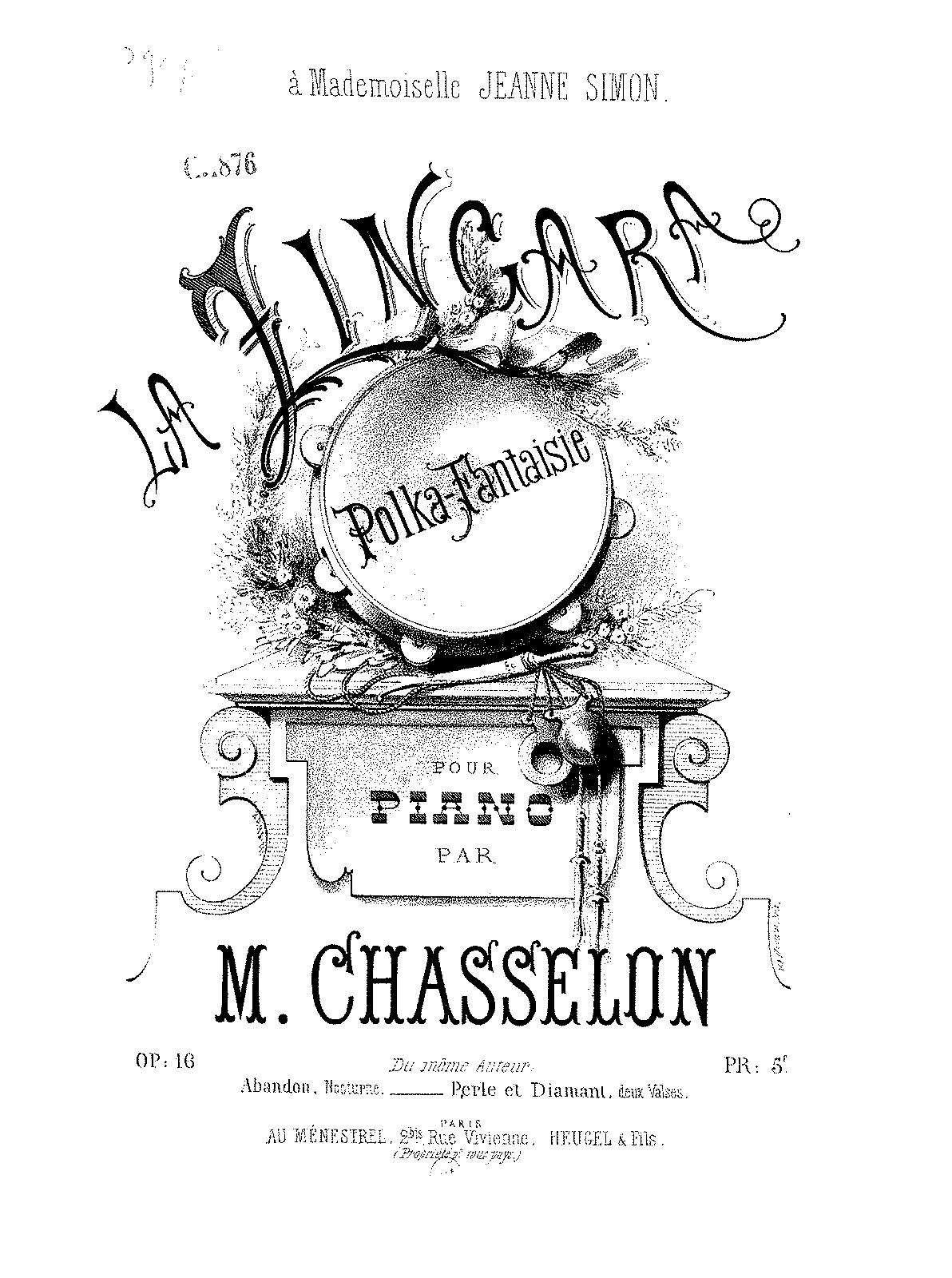 La Zingara, Op 16 (Chasselon, Mélanie) - IMSLP/Petrucci Music