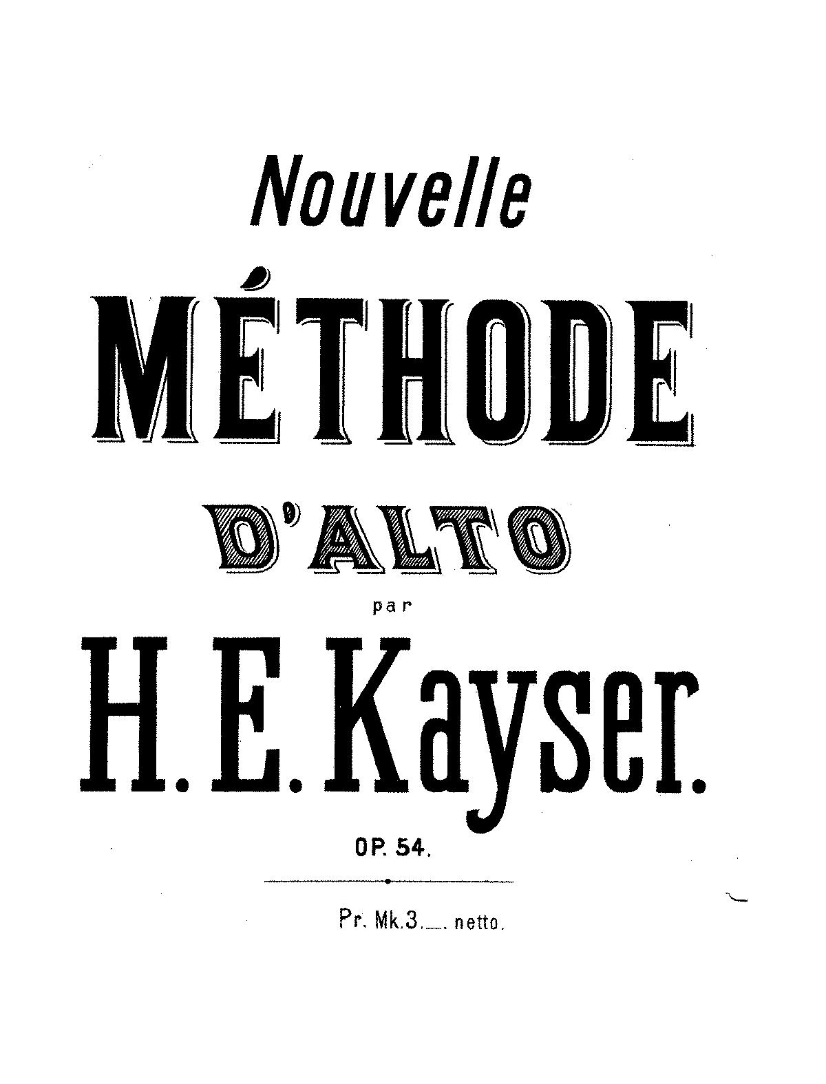 Kayser viola pdf