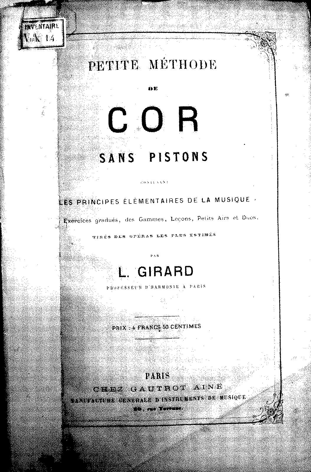 Petite Méthode de cor sans pistons (Girard, L ) - IMSLP/Petrucci