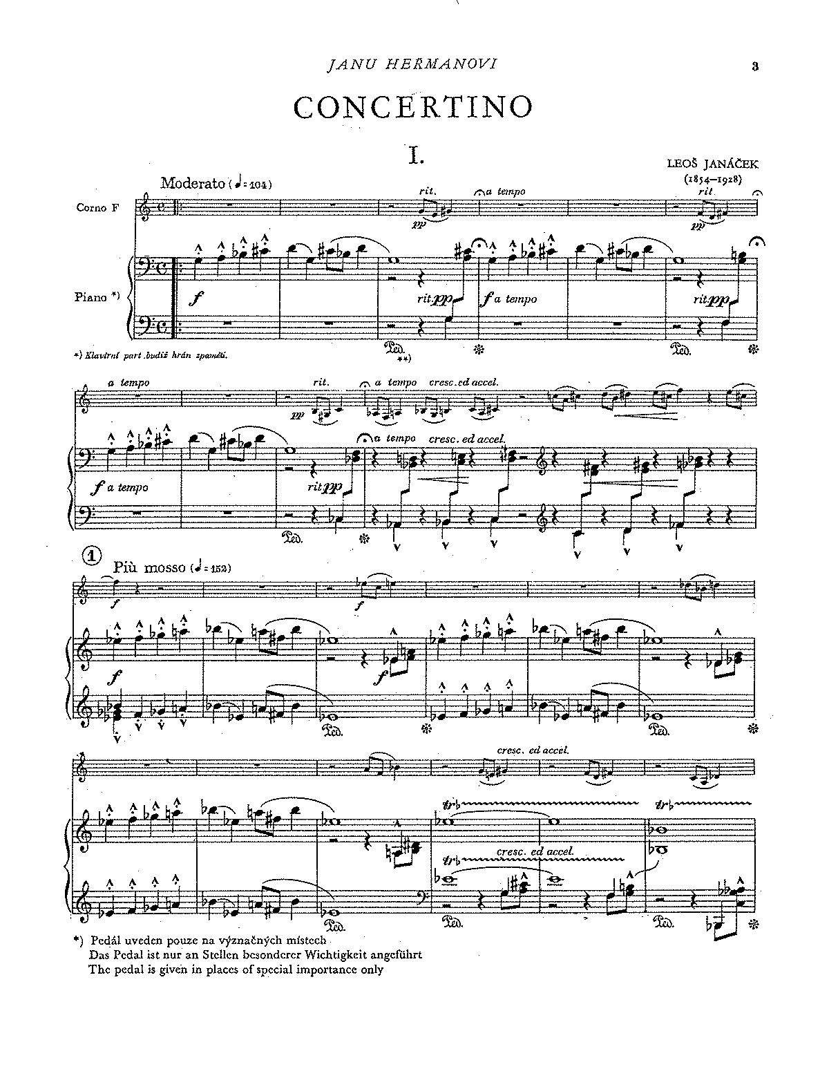 Janáček, Concertino
