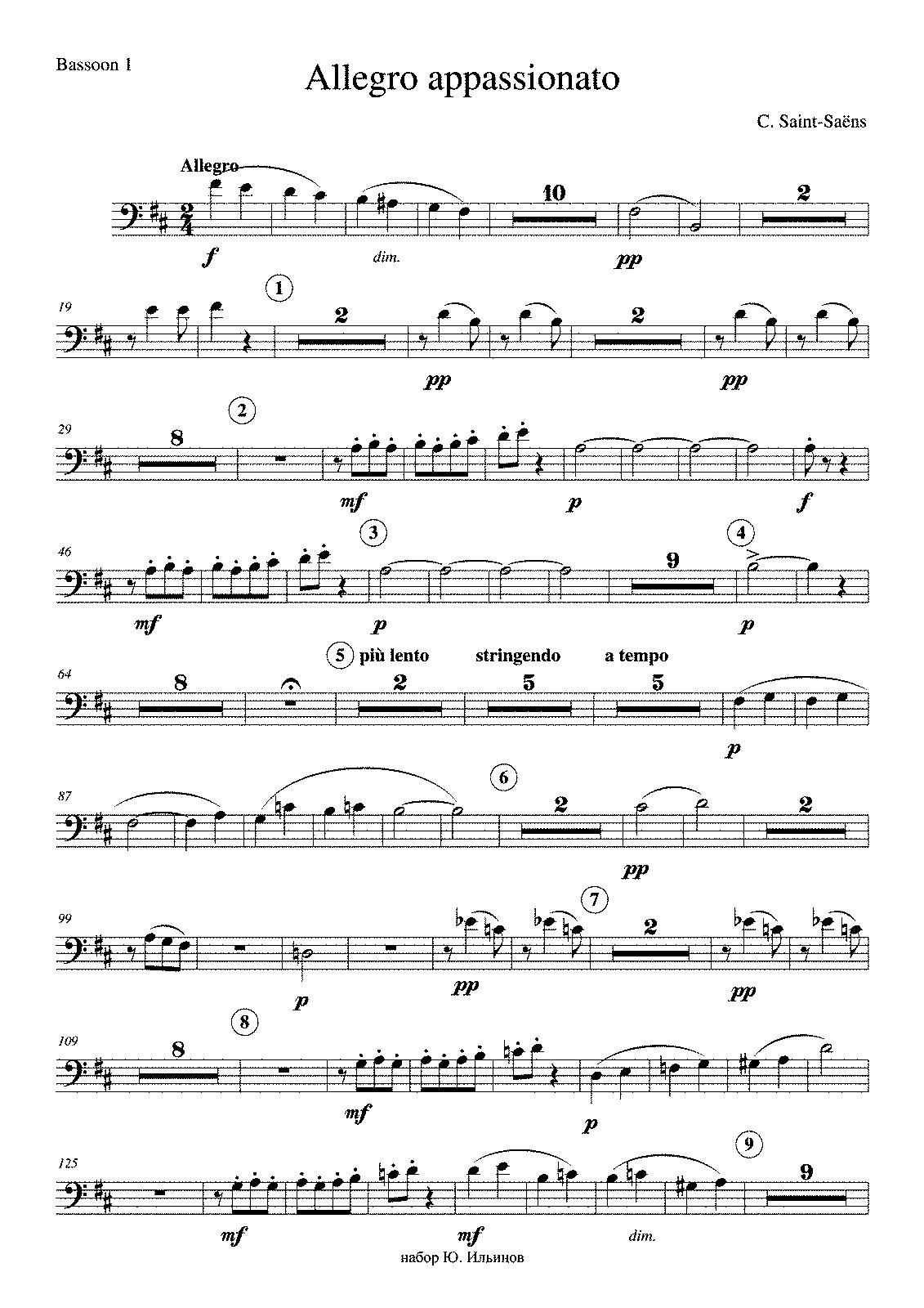 File:PMLP30030-Saint-Saens C  Allegro appassionatox - Bassoon 1 pdf