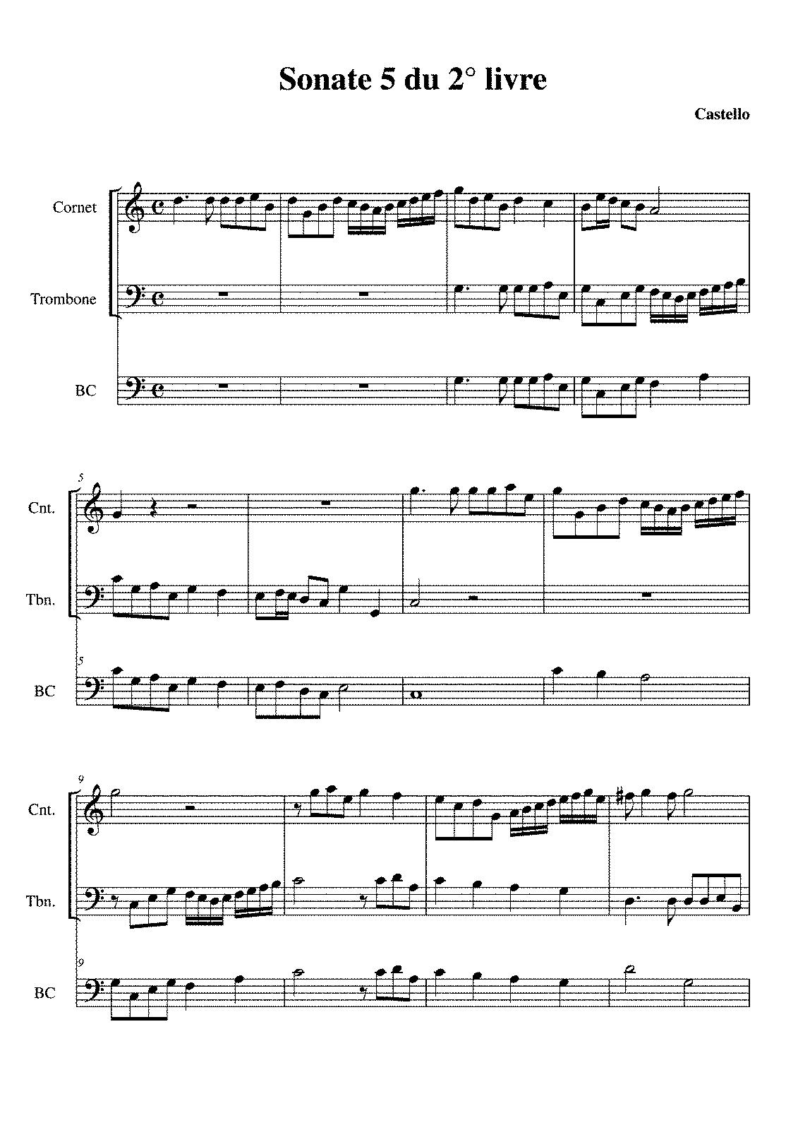 Castello sonata prima pdf printer